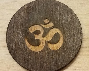 Laser Engraved Om (Ohm) Yoga Keychain or Magnet with Free Shipping from Scrappy Affirmations