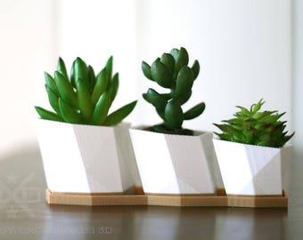 Geometric planter set, Succulent planters, Air plant set, Air plant holders, Planter indoor mini, housewarming gift, Mini planters