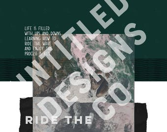 Ride The Wave iPhone Wallpaper