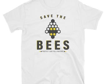 Save the Bees T-Shirt, Protect Our Pollinators Tee Shirt