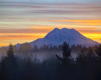 Sunrise over Mt Rainier
