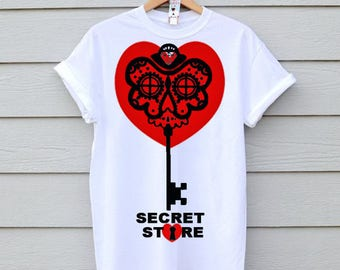 valentine shirt  Unisex T-Shirt secret stre secret story Awesome love T-shirt, Gift For wife, T-shirt,valentine gift her,husband valentine