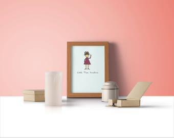 Little Miss Sunshine Feminist Art Print