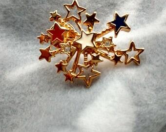 Patriotic Starburst Pin
