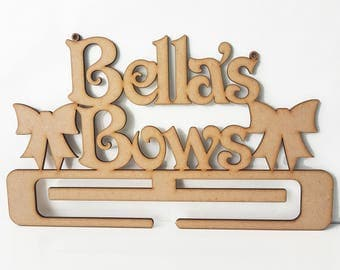 MDF Craft Shapes - Personalised Headbands and Bows Hanger - Ready to Decorate