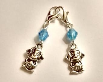 Monkey Hearing Aid Charms