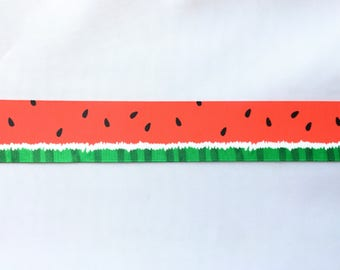Watermelon 1.5 inch 38mm Grosgrain Ribbon for Hair Bows Scrapbooking Crafts Party Cake Birthday Decoration