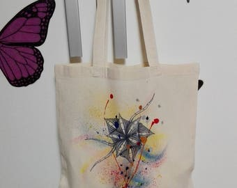 Hand painted cotton bag-shopping bag-gift Idea-Sea bag-grocery bag
