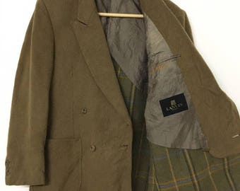 Vintage LANVIN Paris Wool Casual Blazer