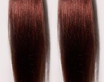 Reddish Brown Hair Pigtails