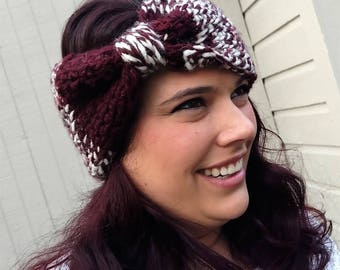 Chunky Knit Winter Earwarmer | Tunisian Crochet Headband
