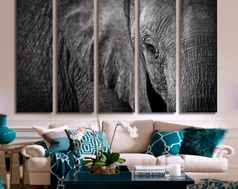 Elephant Wall Art Elephant Canvas Print Elephant Large Wall Decor Elephant Canvas Art Elephant Painting Elephant Poster Print Elephant
