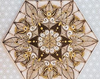 One of  piece - Sacred Geometry - (MandalaHEX)