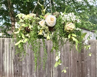 Rustic Wedding Chandelier - Floral Chandelier - Rustic Wedding Floral Decor - Floral Chandelier - Wedding Chandelier - Custom Chandelier