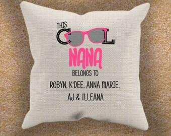 Personalized Grandma Pillow Cover Cool Nana Pillow Cover Perfect For Grandma And All Other Grandma Nicknames