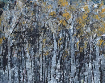 A Walk in the Woods/Hand Painted Acrylic Art/Framed Original Art