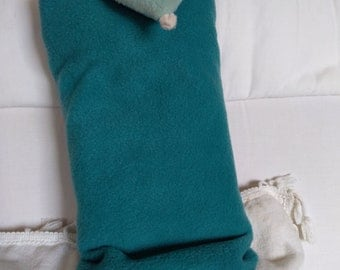 fleece blanket, pillow teal fleece mouse convertible, cuddly mouse dual use