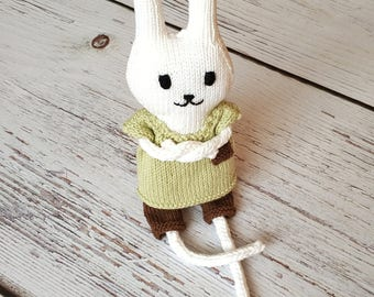 Knitted bunny boy