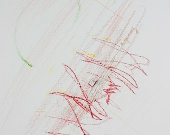 """Colored Pencil Drawing - """"Color Harmony and Childhood Regression"""" PART 3 OF 4 (PRINT)"""