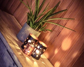 Industrial hand made candle holder