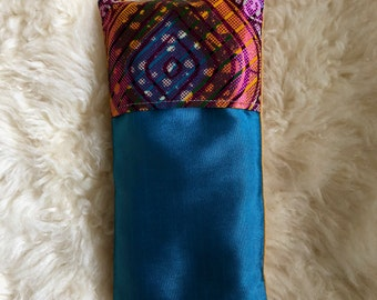 Handmade relaxing eye pillow unique piece organic rice and lavender