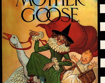 The Real Mother Goose - Blanche Fisher Wright - 1986 - Vintage Kids Book