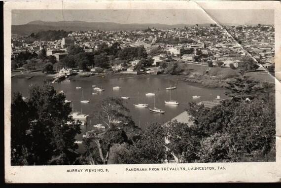 Murray Views No. 9 - Panorama From Trevallyn, Launceston, Tasmania - Vintage Postcard