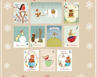 5 Illustrated Christmas Cards - Pick your favourites