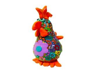 Chicken sculpture, Chicken art. Chicken decor, Chicken figure, Chicken Collectibles, Chicken Decoration, Chickens, Home Decor Chicken