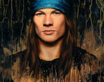 "ORIGINAL Axl Rose painting, 20x24"", oil on canvas"