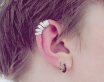 cuffed cartilage ear cuff-- custom single or set-- primitive series-- handmade by thebeadedlily