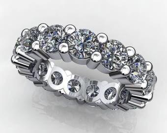 brigitte ring - 5 carat NEO moissanite eternity band, anniversary band