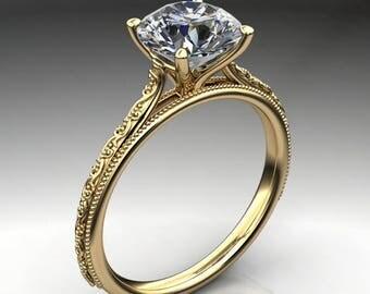 perla ring - 1.5 carat round NEO moissanite engagement ring