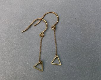 Tiny Triangle Dangle Earrings