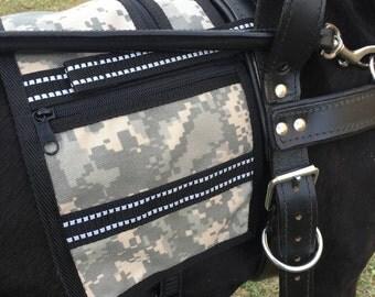 Vest for Guide Dog Harness, Cape vest for Guide Dog Harness, Service Dog Vest, Vest that attaches to a Harness, Service Dog Cape for harness