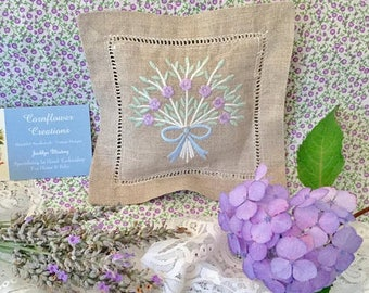 Embroidered Organic Lavender Sachet