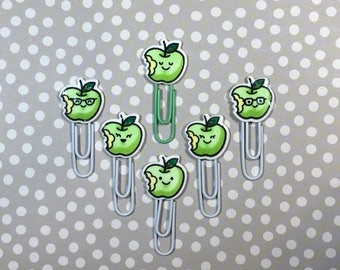 Day Planner Paper Clips • Kawaii Green Apples • LIMITED RUN