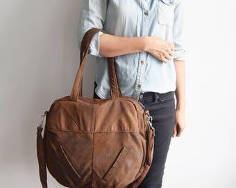 TAZETTA bag // rustic brown leather