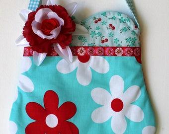 Sunny Flower Purse, girls purse, toddler purse, spring purse