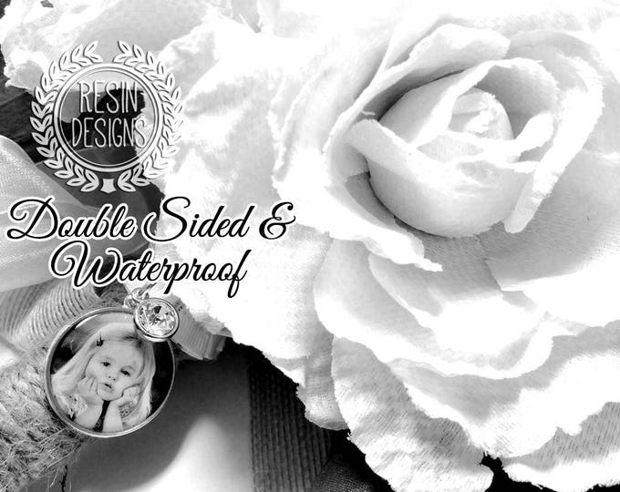 Personalized Wedding Bouquet Charm, Gift for Bride, Brooch, Memorial, Custom, Bridal Bouquet, Photo Charm, Memory Charm, Bouquet Brooch