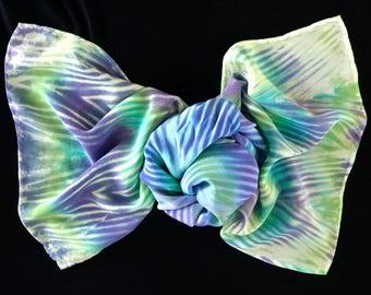 Favorites - Arashi Sibori Hand Dyed Crepe de Chine Silk Scarf