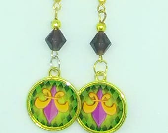 Fleur De Lis Charm Earrings