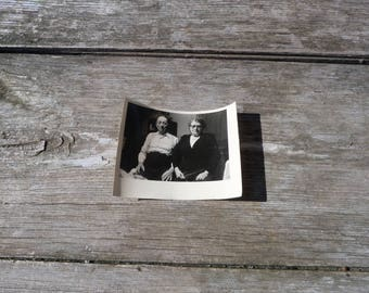 Vintage Antique French black & white couple  photography