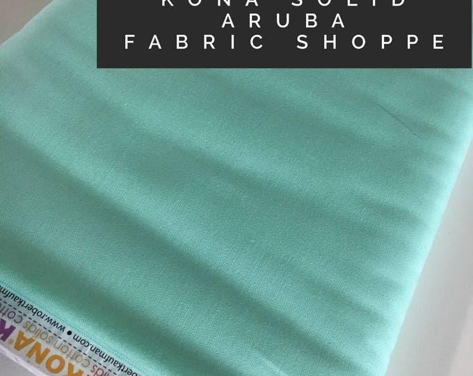Kona cotton solid quilt fabric, Kona ARUBA 1837, Solid fabric Yardage, Kaufman, Quilting Cotton fabric, Choose the cut