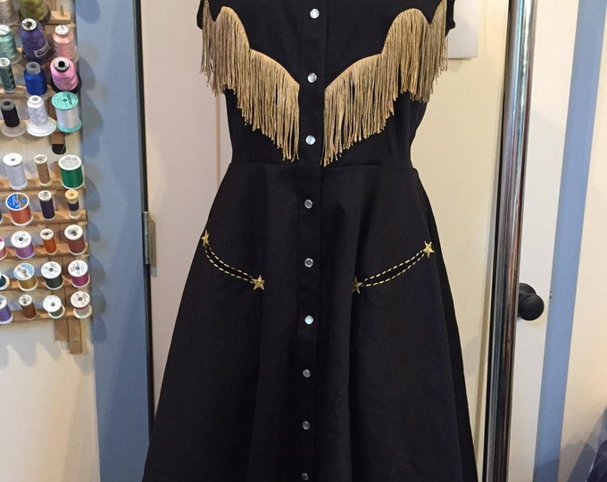 Custom Georgia Western Swing Dress