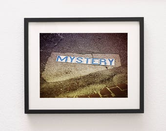Mystery Street, New Orleans Photography, Bayou St. John, Road Sign, Travel Photography, Brick Road, Loft Decor, Modern Decor