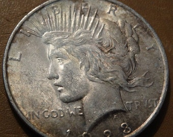 1923 Peace Silver Dollar (D) Coin antique coins for Jewelry Jeweler Numismatic Coinage Retro Americana Coinage 1920's Lot #32