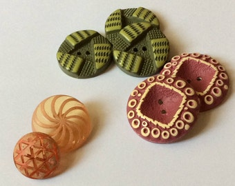 Yummy Celluloid Buttons - Buffed and Carved