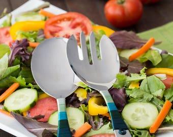Mermiad Serving Set - Salad Serving Set - Pasta Serving Set - Valentines Day Gifts for Her - Gifts Under 75