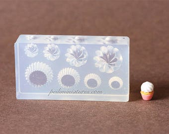 Dollhouse Miniature Cup Cake Base and Piped Cream Mold
